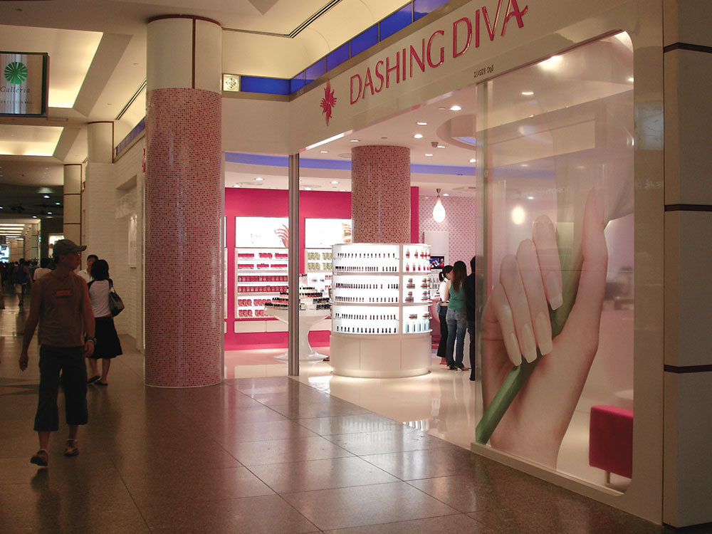 Dashing Diva : nail salon modular furniture system and fixture design for international chain and franchise opportunities