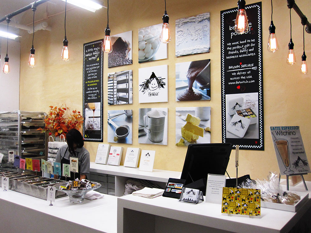 Fat Witch Bakery retail store interior