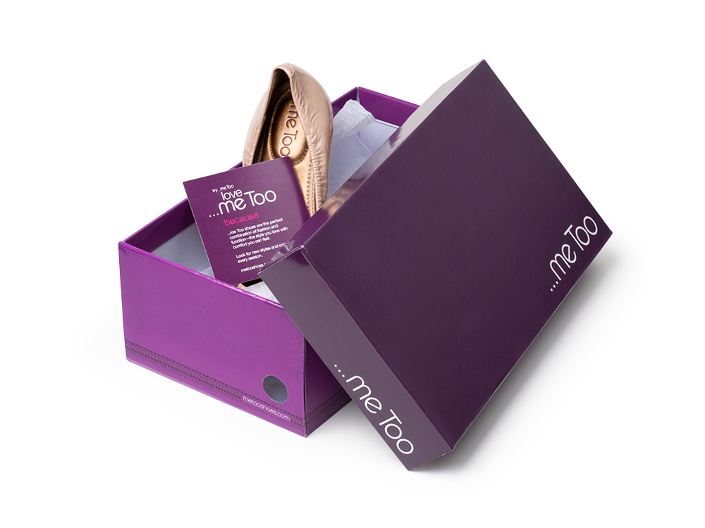 ...me Too brand Identity and shoebox packaging system for mainline products and line extensions