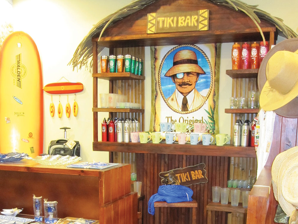 the Panama Jack store interior design reflects the tropical and relaxed island lifestyle of the brand