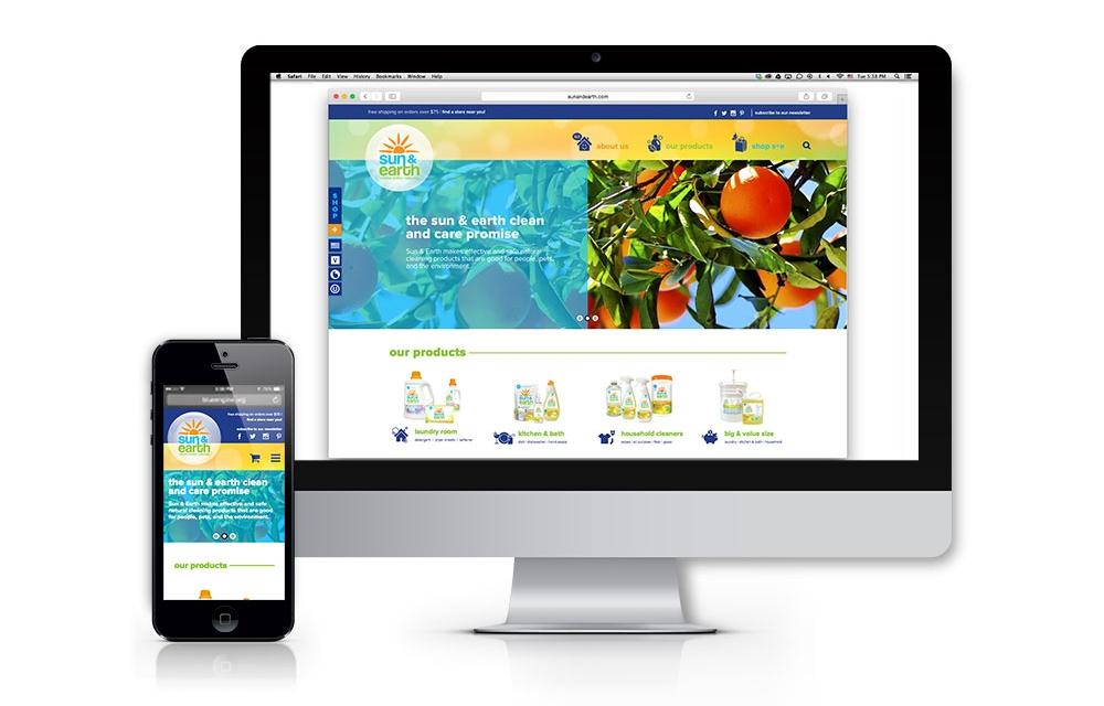Sun & Earth: E-Commerce Website Design and Development