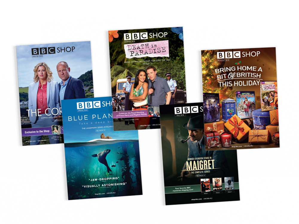 BBC Studios : Print Product catalog covers