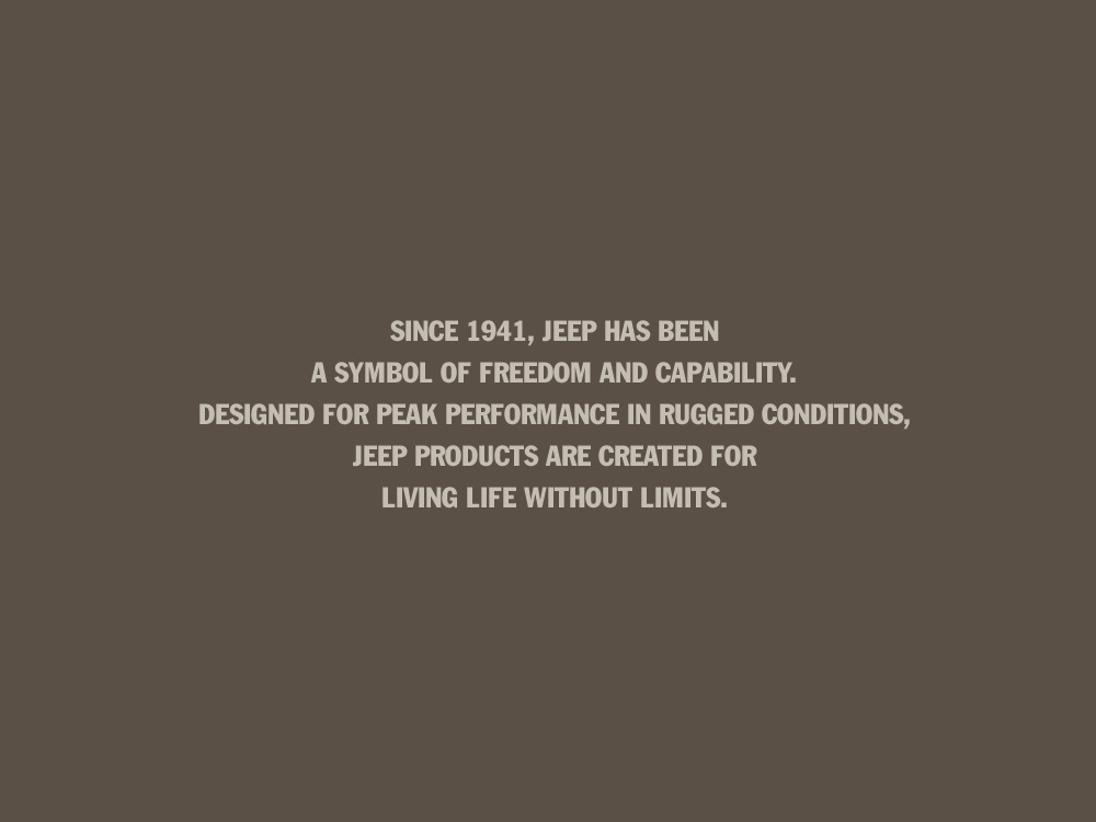 Jeep brand statement