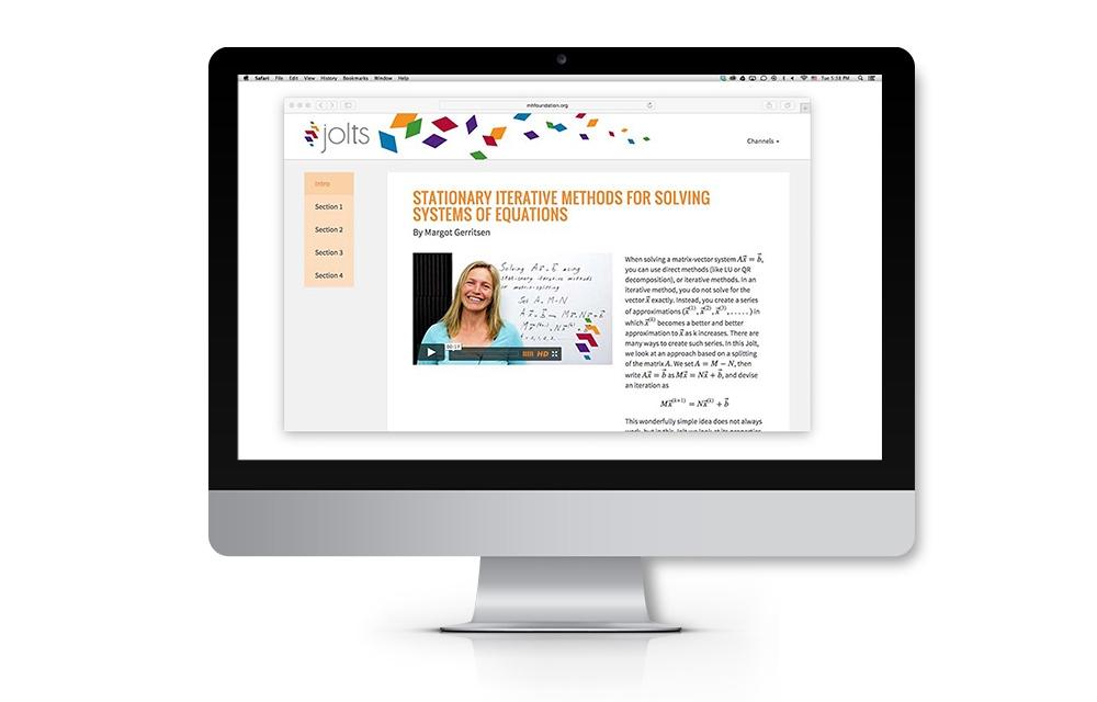 jolts program identity on website