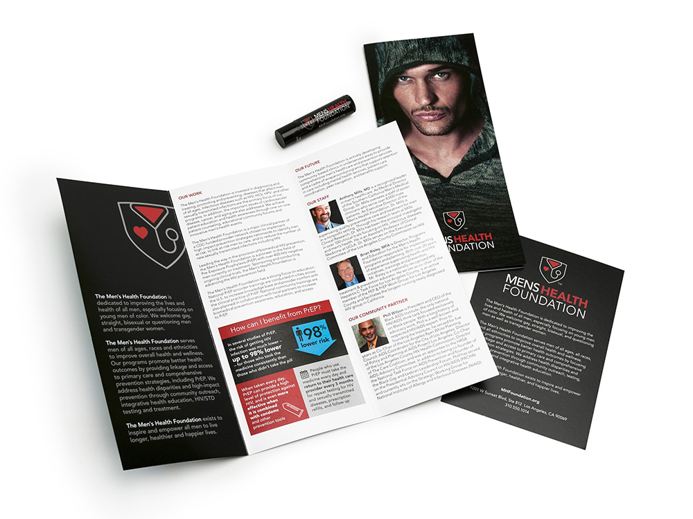 Men's Health Foundation marketing materials build awareness for the organization and its mission.