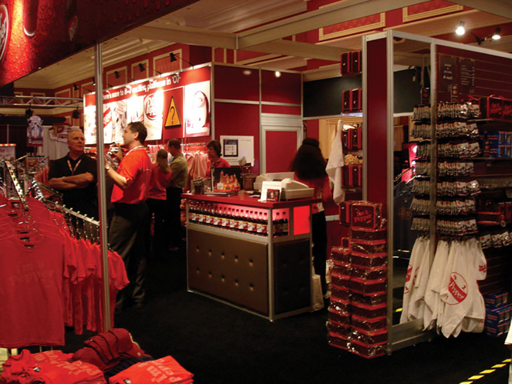 Dr Pepper apparel and accessory merchandising