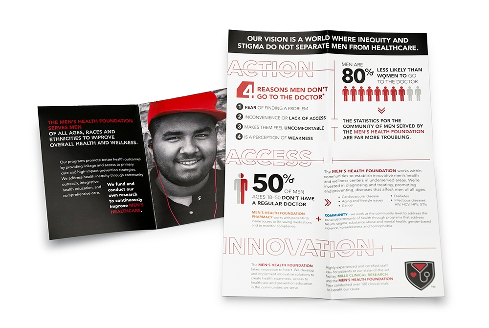 """Print brochures create awareness, provide information and deliver the key message of the foundation, """"Action, Access and Innovation."""" : alternatives : branding and design agency based in nyc"""