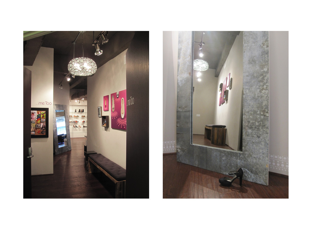 The renovated …me Too showroom