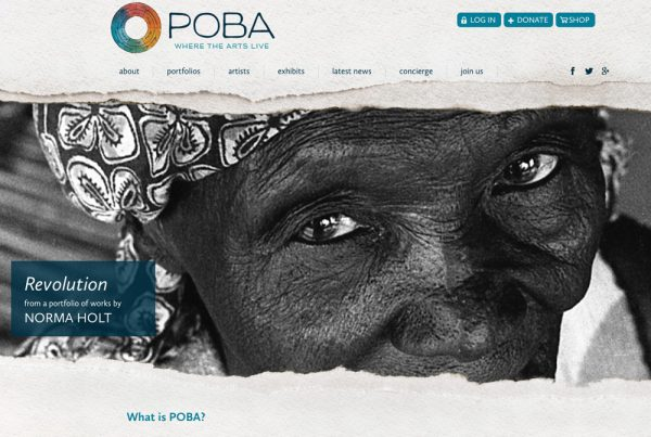 POBA : a non-profit online hub that celebrates the creative works of exceptional contemporary artists