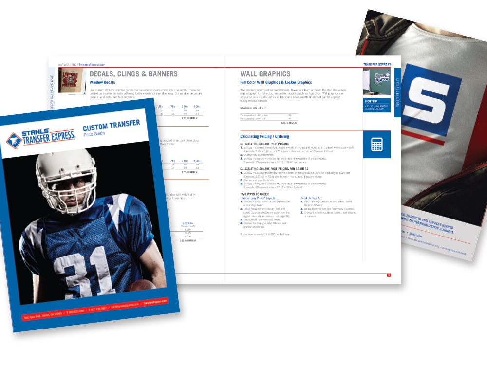 STAHLS' Transfer Express product catalog templates