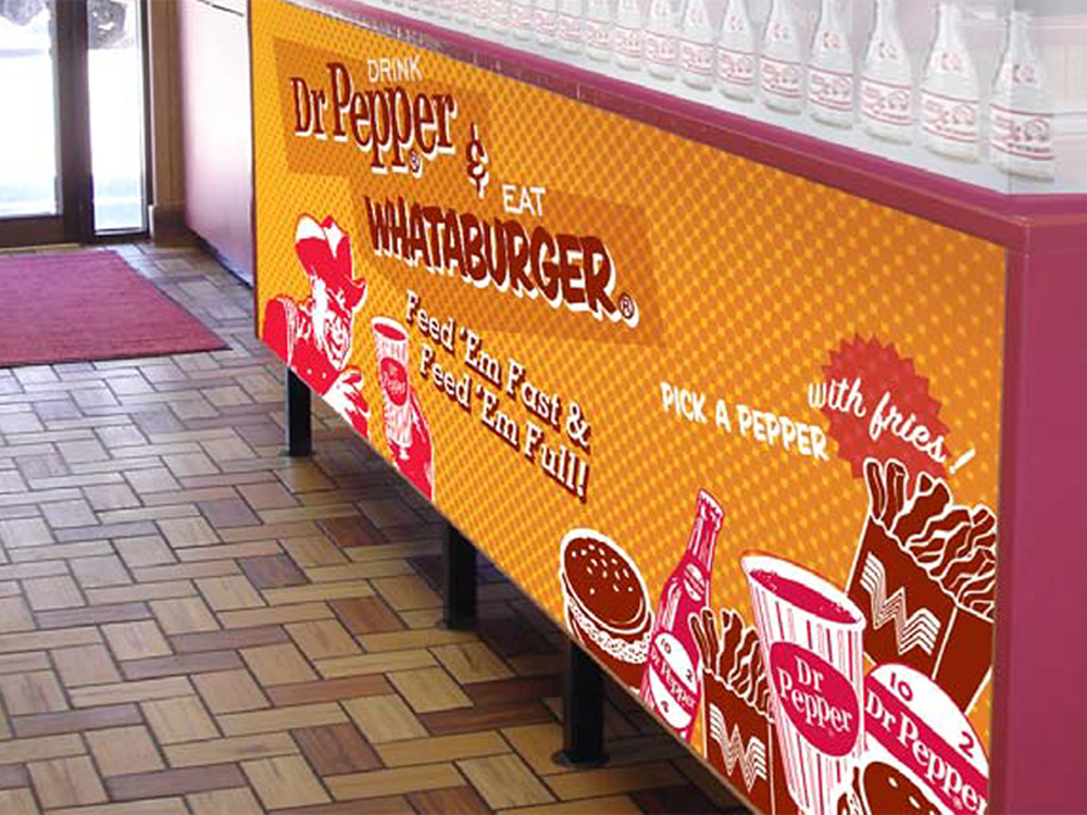 Whataburger counter graphic