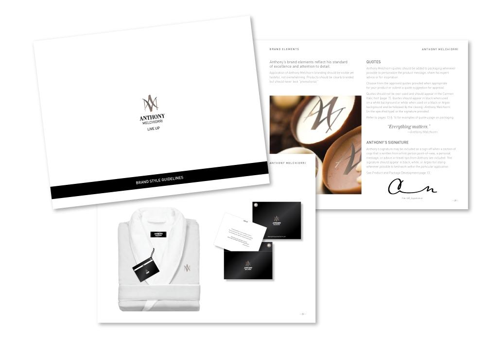 Anthony Melchiorri brand style guidelines