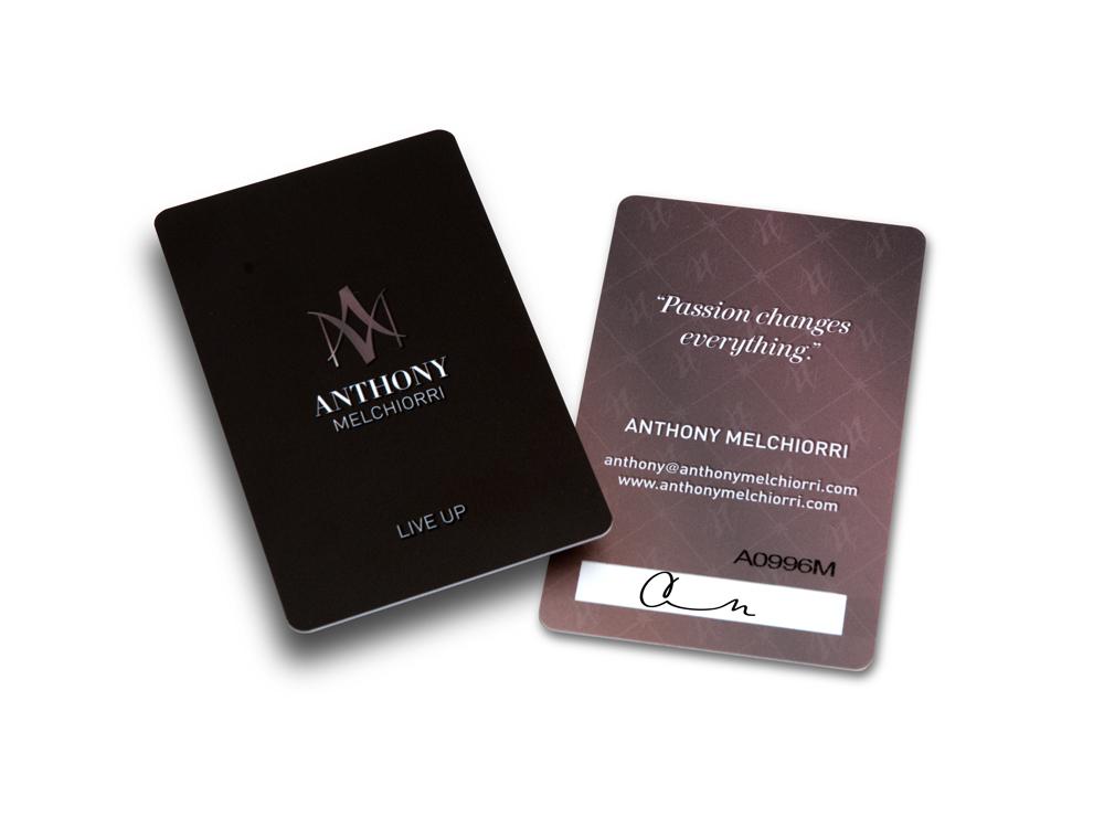 Anthony Melchiorri Hotel Key style business card