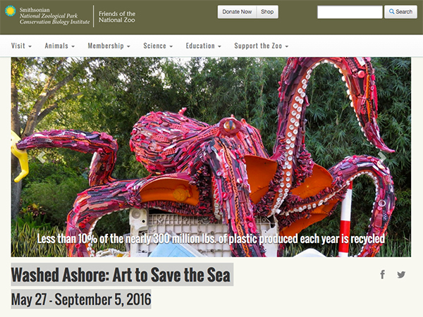 EcoInvention Washed Ashore Octopus
