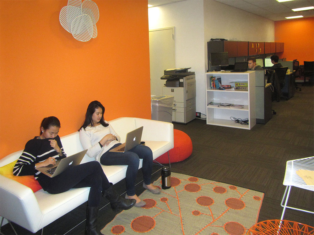 Casual reception area and work space