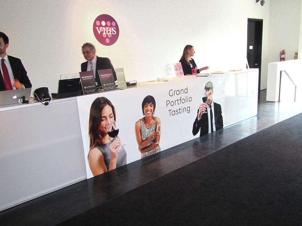 Vias Imports: Event signage includes venue entry sign