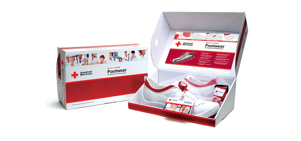 American Red Cross footwear program for healthcare professionals