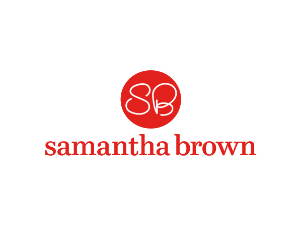 Samantha Brown | brand identity and positioning that reflect Samantha's relaxed down-to-earth nature