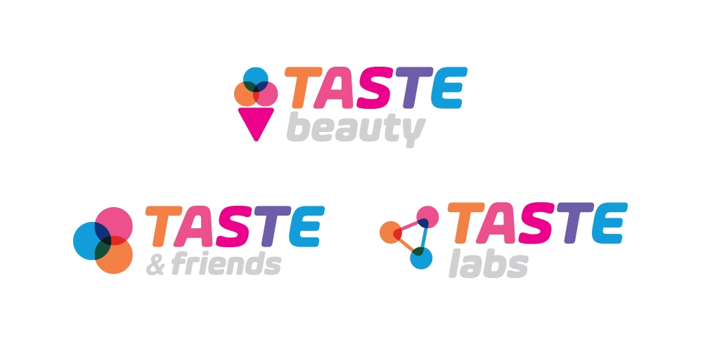 Brand Identity for Taste Beauty, Taste & Friends and Taste Labs